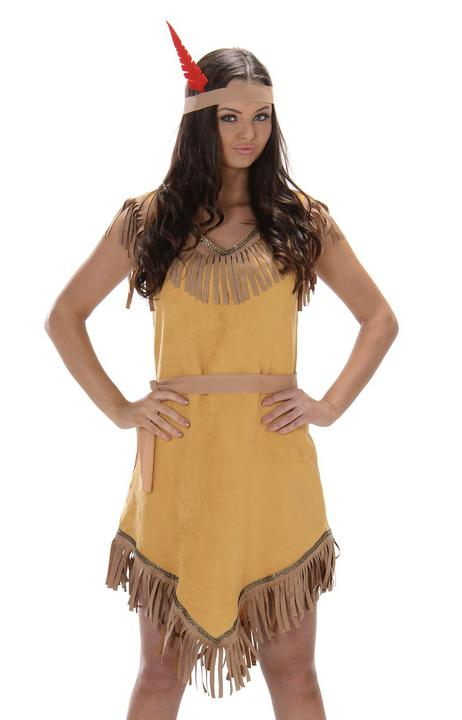 Ladies Indian Brave Wild West Women's Adult Fancy Dress Costume Party Outfit