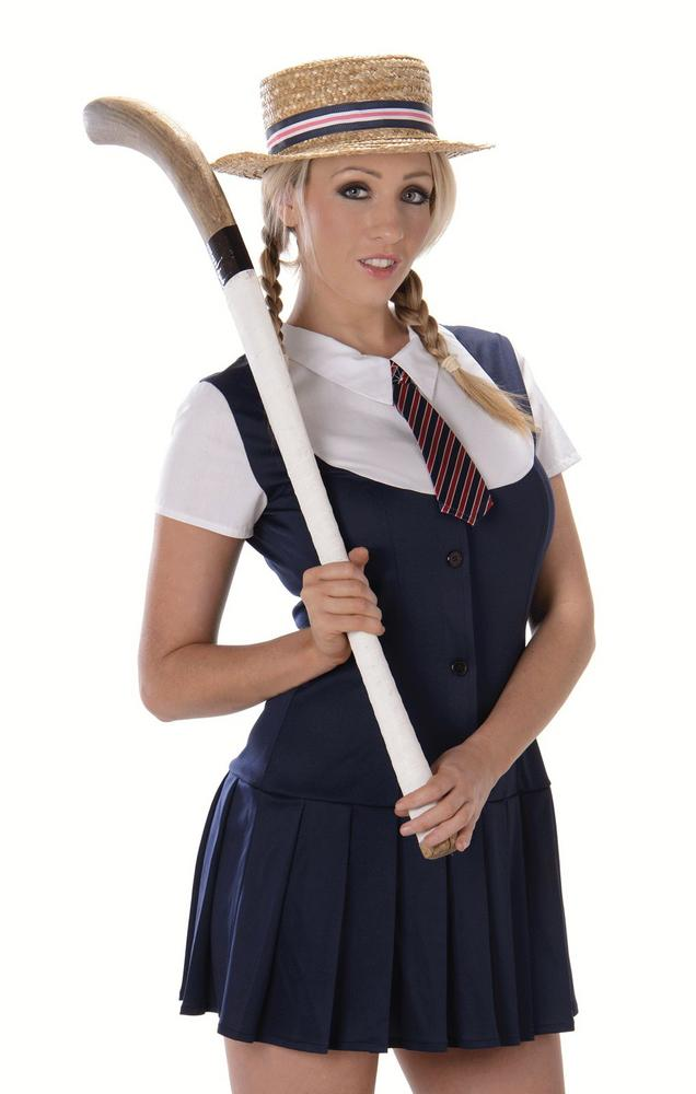 Ladies Sexy School Girl Adult Fancy Dress Costume Hen Party Outfit