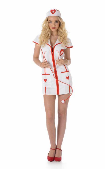 Ladies SUPER Sexy Nurse Uniform Adult Fancy Dress Costume Hen Party Outfit Thumbnail 2