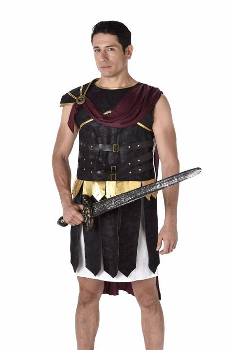 Mens Deluxe Roman Soldier Gladiator Adult Fancy Dress Costume Stag Party Outfit Thumbnail 1