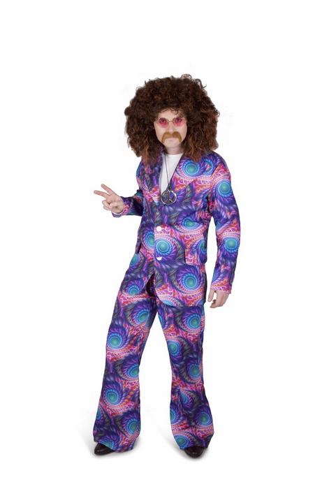 Mens 60s 70s Boho Groovy Hippie Adult Fancy Dress Costume Stag Party Outfit Thumbnail 1