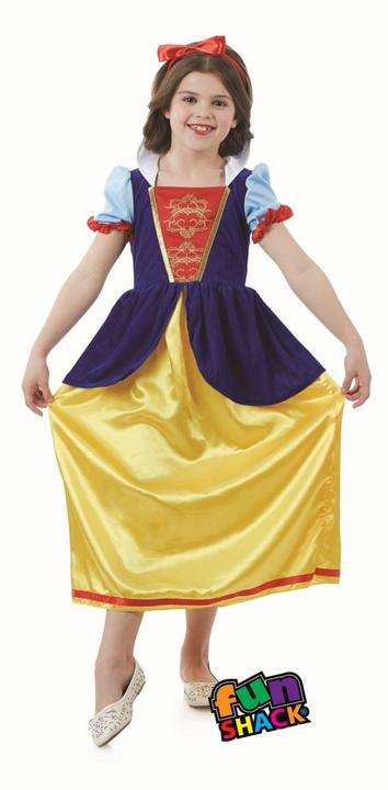 Snow White Girl's Fancy Dress Costume Thumbnail 1