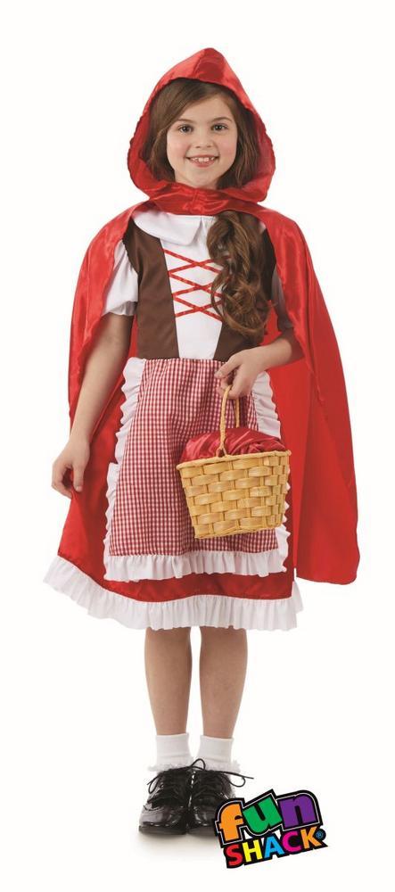 Red Riding Hood Girls Fancy Dress Costume