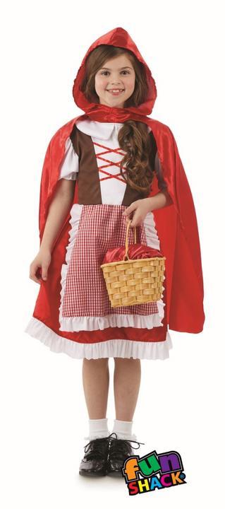 Red Riding Hood Girls Fancy Dress Costume Thumbnail 1