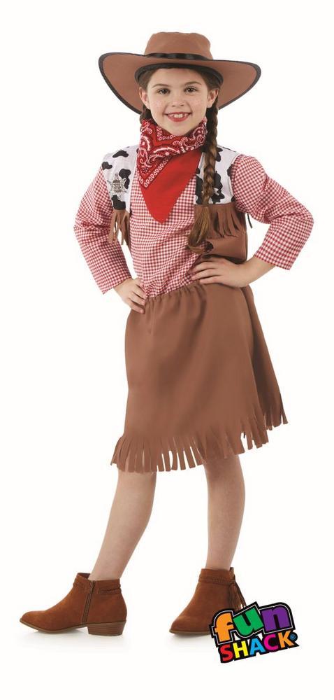 Cowgirl Girl's Fancy Dress Costume