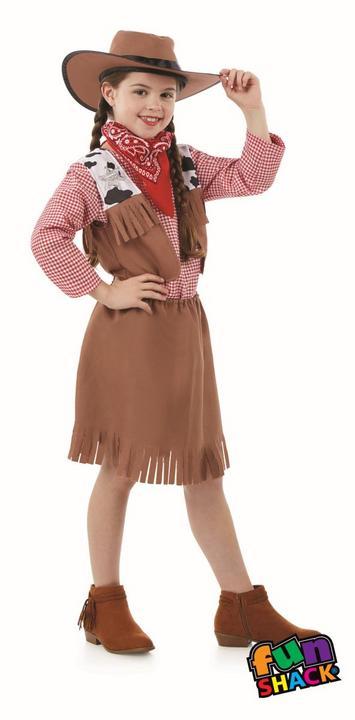 Cowgirl Girl's Fancy Dress Costume Thumbnail 2