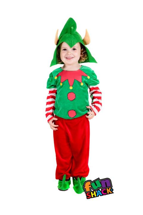 Elf Toddler Fancy Dress Costume Thumbnail 1