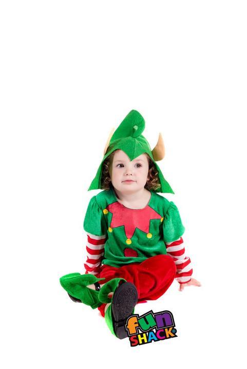 Elf Toddler Fancy Dress Costume Thumbnail 2