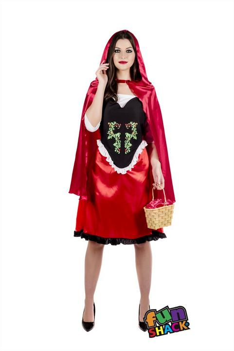 Red Riding Hood Women's Fancy Dress Costume Thumbnail 1