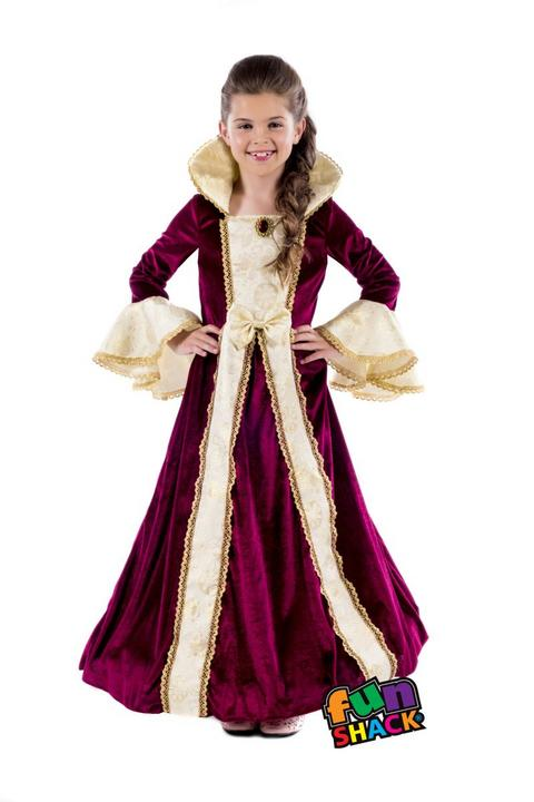 Royal Ball Gown Victoria Girl's Fancy Dress Costume Thumbnail 2