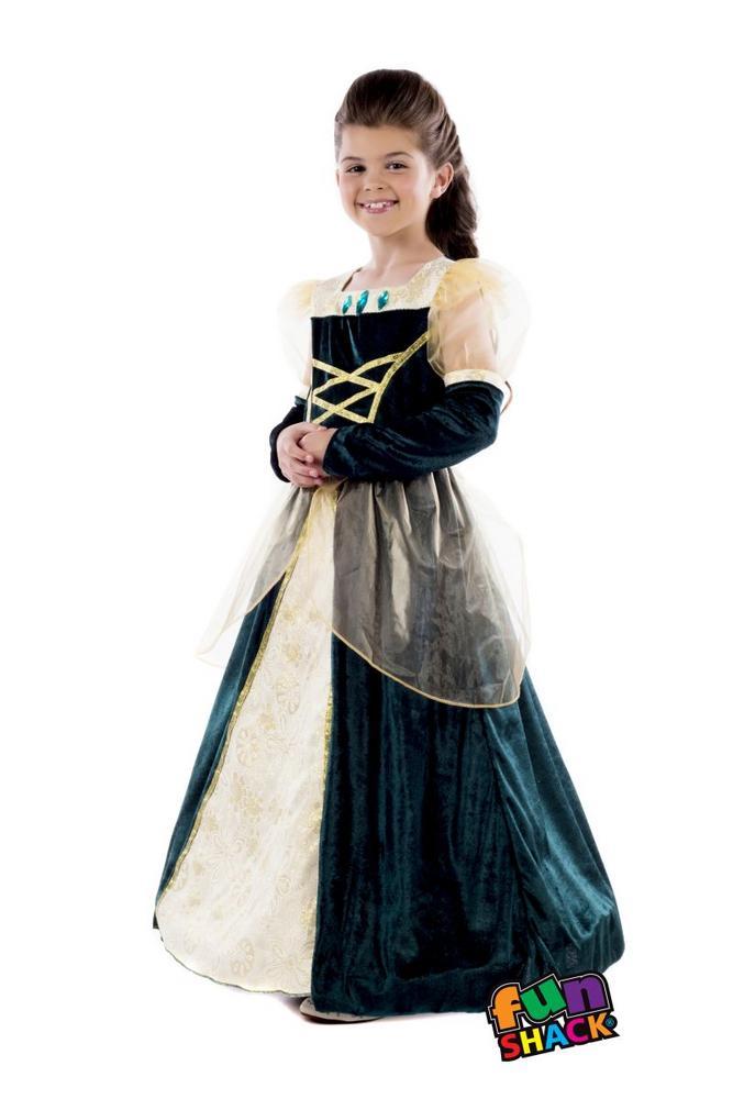 Royal Ball Gown Alexandra Girl's Fancy Dress Costume