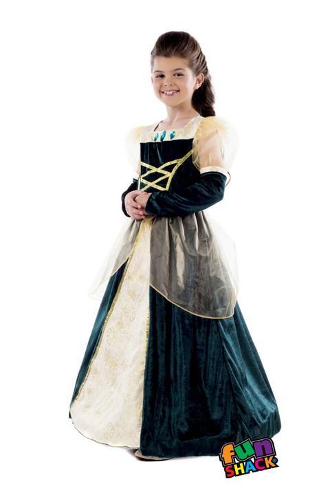 Royal Ball Gown Alexandra Girl's Fancy Dress Costume Thumbnail 1