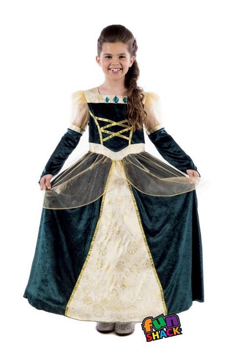 Royal Ball Gown Alexandra Girl's Fancy Dress Costume Thumbnail 2