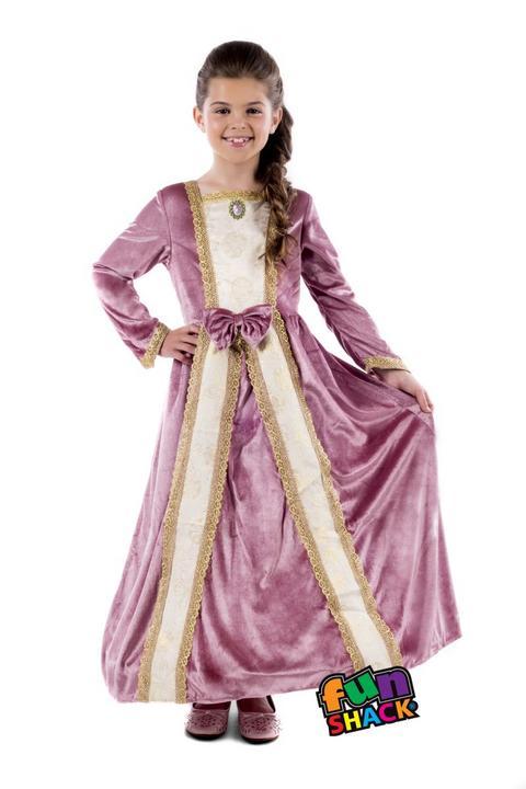 Royal Ball Gown Elizabeth Girl's Fancy Dress Costume Thumbnail 3
