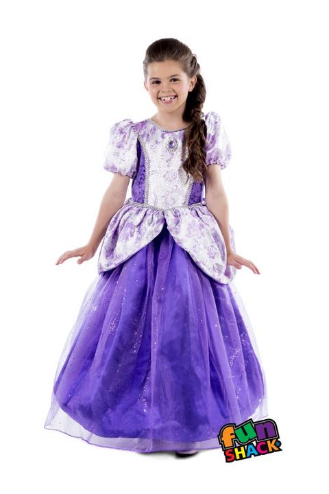 Royal Ball Gown Charlotte Girl's Fancy Dress Costume Thumbnail 1