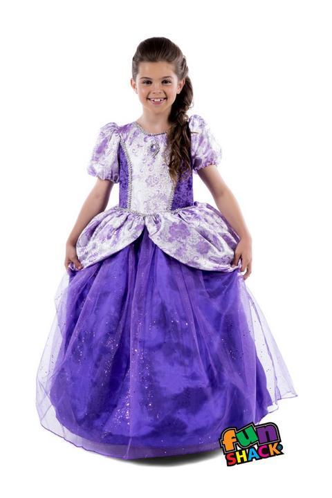Royal Ball Gown Charlotte Girl's Fancy Dress Costume Thumbnail 2