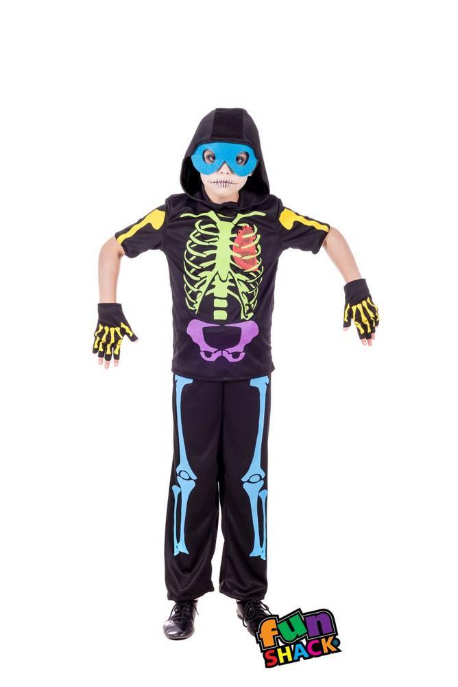 Cool Skeleton Boy's Fancy Dress Costume