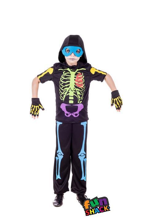 Cool Skeleton Boy's Fancy Dress Costume Thumbnail 1
