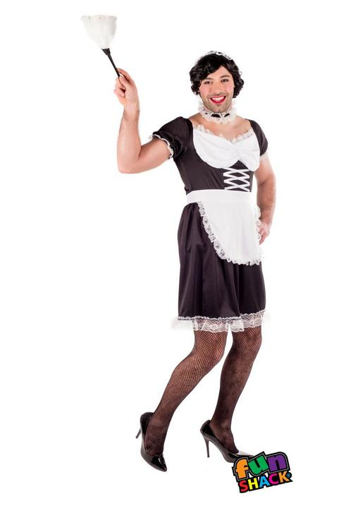 Sexy French Maid Women's Fancy Dress Costume Thumbnail 1