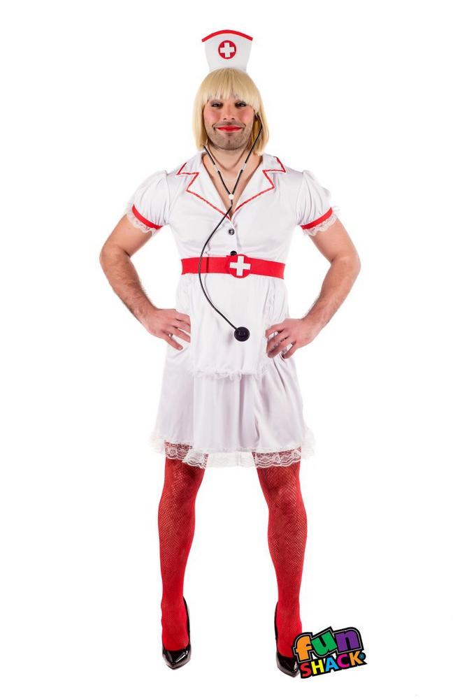 Naughty Nurse Men's Fancy Dress Costume
