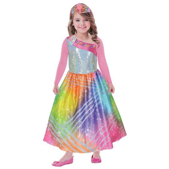 Barbie Rainbow Magic Girl's Fancy Dress Costume Thumbnail 1