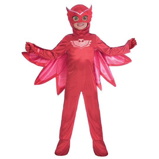 PJ Masks Owlette Girl's Deluxe Fancy Dress Costume Thumbnail 1