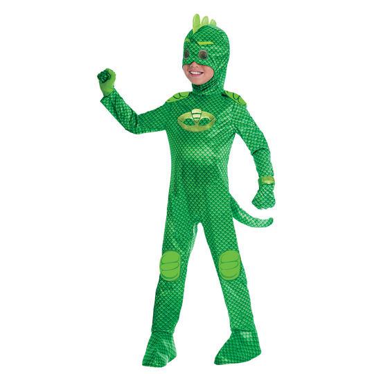 PJ Masks Gekko Boy's Deluxe Fancy Dress Costume Thumbnail 1