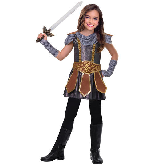 Warrior Cutie Girls Fancy Dress Costume Thumbnail 1