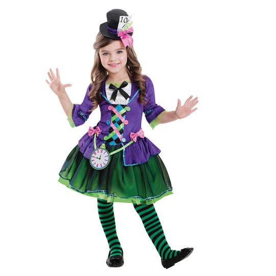 Bad Hatter Girls Fancy Dress Costume Thumbnail 1