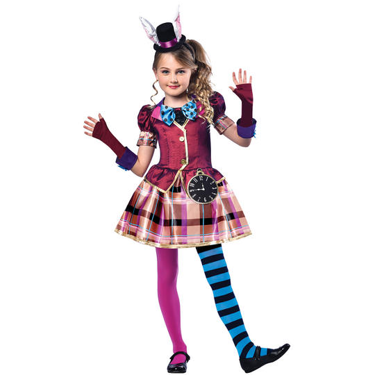 Miss Hatter Girl's Fancy Dress Costume Thumbnail 1