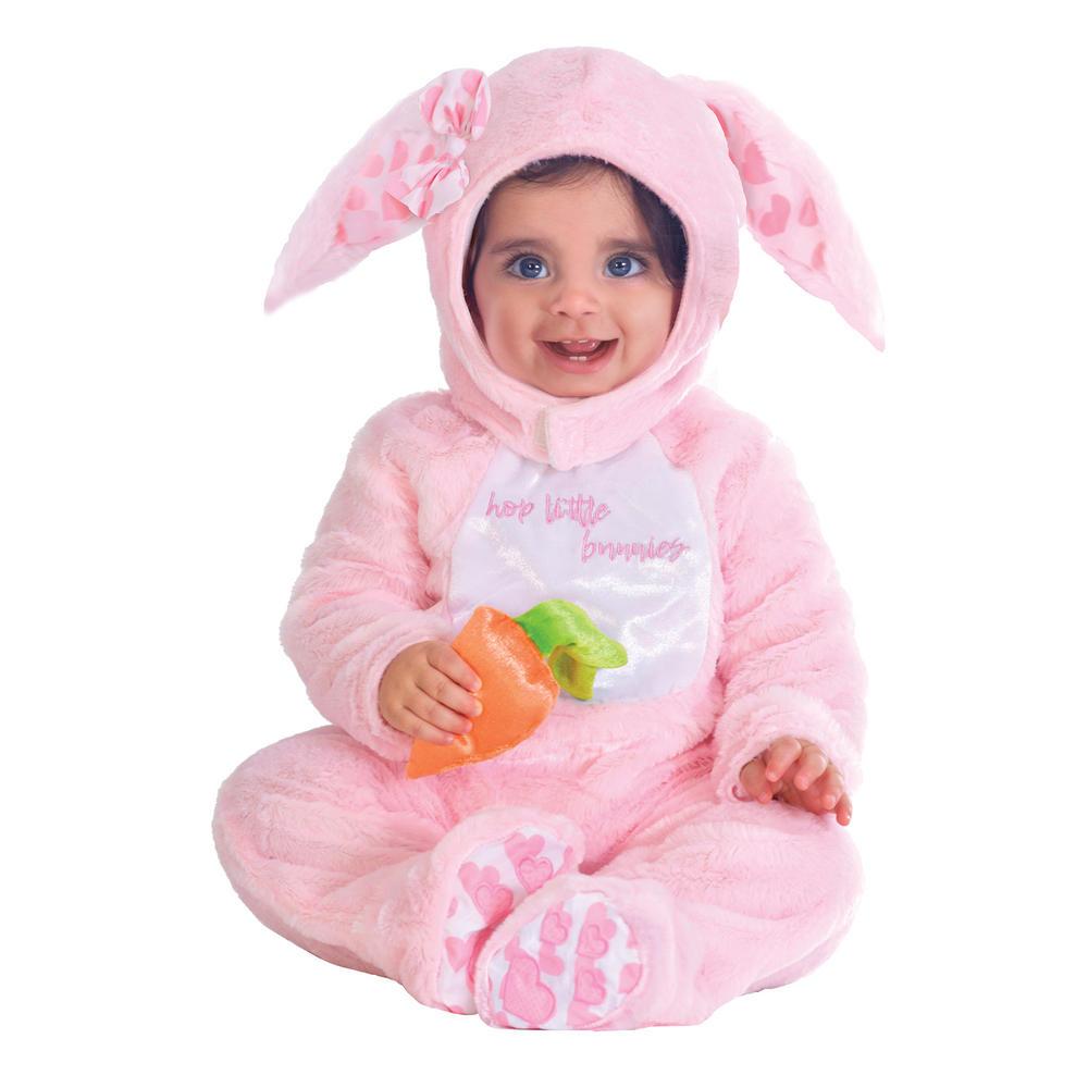 Pink Rabbit Girl's Fancy Dress Costume