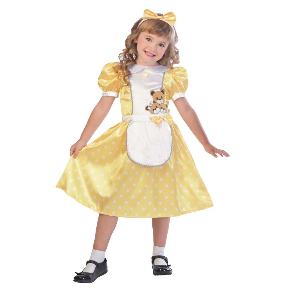 Girls Goldilocks costume kids school book week story fairytale fancy dress outfi