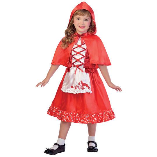 Red Riding Hood Girl's Fancy Dress Costume Thumbnail 1