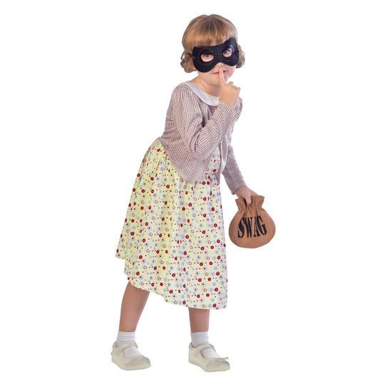 Girls burgler granny gangster costume kids david walliams school book week dress Thumbnail 1