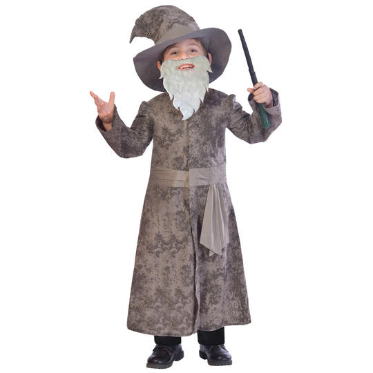 Boys Wise Wizard Costume Kids School Book week Fairytale Story Childs Outfit Thumbnail 1