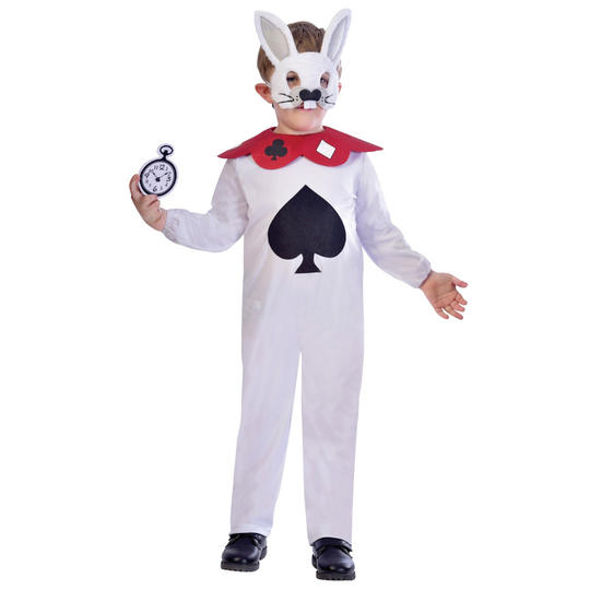 White Rabbit Kid's Fancy Dress Costume Thumbnail 1