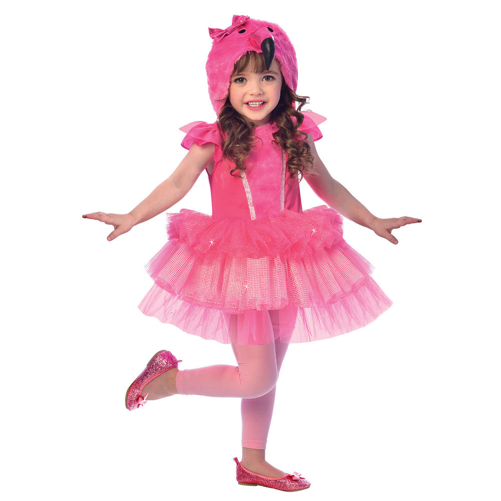 Flamingo Girl's Fancy Dress Costume