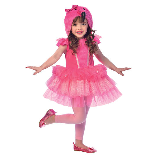 Flamingo Girl's Fancy Dress Costume Thumbnail 1