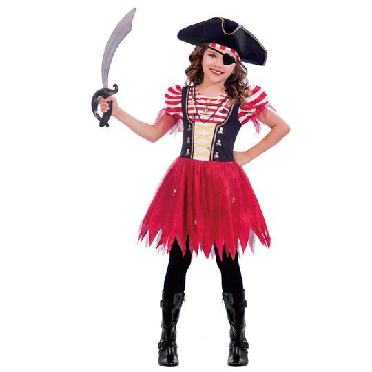 High Seas Pirate Girl's Fancy Dress Costume Thumbnail 1