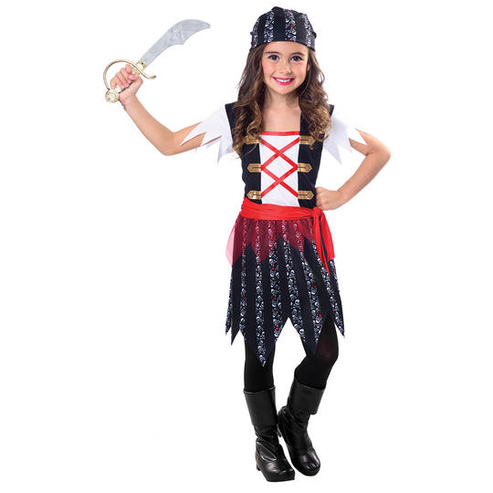 Pirate Cutie Girl's Fancy Dress Costume Thumbnail 1