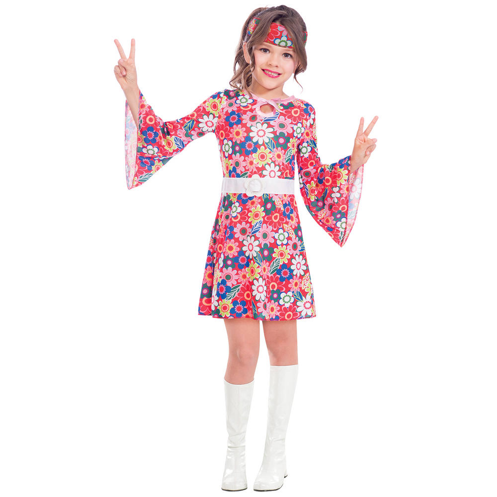 Miss 60's Girl's Fancy Dress Costume