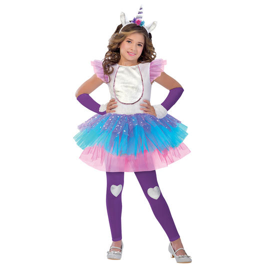 Magical Unicorn Girl's Fancy Dress Costume Thumbnail 1