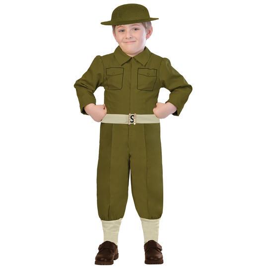 Boys WW1 Soldier Costume Kids World War School Book week Fancy Dress Outfit Thumbnail 1