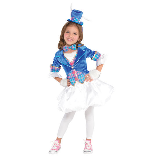 Down the Rabbit Hole Girl's Fancy Dress Costume Thumbnail 1