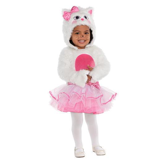 Girls Cat Costume Kids Fancy Dress Animal  Kitty Outfit Thumbnail 1