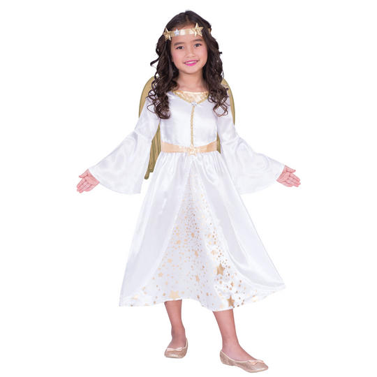 Angel Girl's Fancy Dress Costume Thumbnail 1
