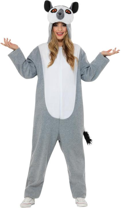 Lemur Costume Mens Womens Costume Adults Fancy Dress Outfit Animal Party Thumbnail 2