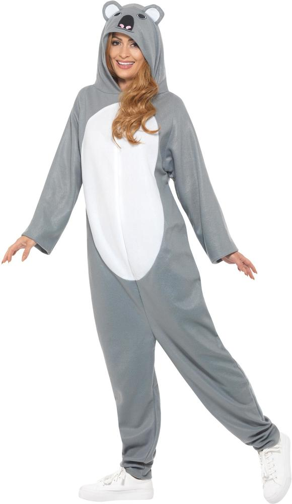 Koala Bear Costume Mens Womens Costume Adults Fancy Dress Outfit Animal Party