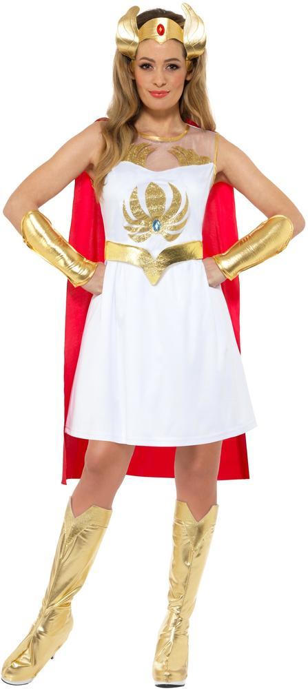She-Ra 1980s Heman Womens Costume Ladies Superhero Fancy Dress Outfit Masters
