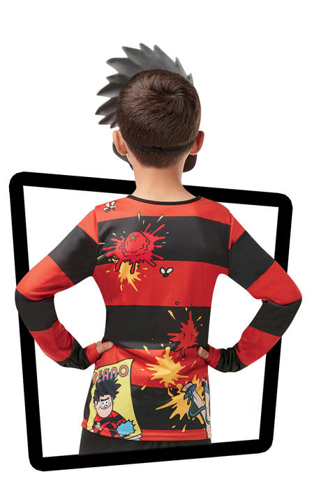 Boys Dennis the Menace Costume Kids Beano Comic Book Week Fancy Dress Outfit Thumbnail 2